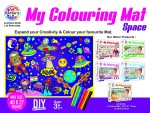RATNA'S Premium Quality My Colouring MAT for Kids Reusable and Washable. Big MAT for Colouring. MAT Size(40 INCHES X 27 INCHES)(SPACE THEME )