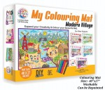 NAME- RATNA'S Premium Quality My Colouring MAT for Kids Reusable and Washable. Big MAT for Coloring. MAT Size(40 INCHES X 27 INCHES) (MODERN VILLEGE THEME)