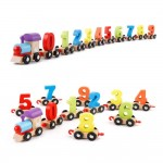 Wooden Digital Colorful Train with 0 to 9 Number, Learning Educational Model Vehicle Toys (Multicolor)