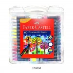 FABER-CASTELL PREMIUM HEXAGONAL OIL PASTELS SET OF 60