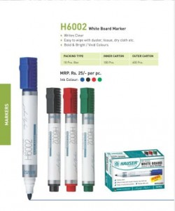 Hauser H6002 White Board Marker (pack of 10)
