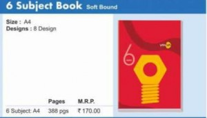 Navneet 6 Subjecr Book (Soft Bound)(A/4)(388pgs)