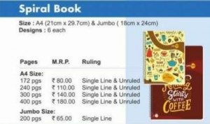 Navneet A/4 Spiral Book (All Mix Sizes)