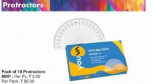 Navneet Protractors (pack of 10)