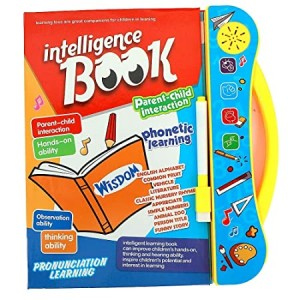 kidzz intelligence book | interactive children book -musical english educational phonetic learning book for 3 + year kids|boys|toddlers- Multi color Brand: Kidzz