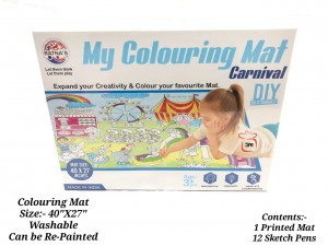 NAME- RATNA'S Premium Quality My Colouring MAT for Kids Reusable and Washable. Big MAT for Coloring. MAT Size(40 INCHES X 27 )INCHES (CARNIVAL THEME))