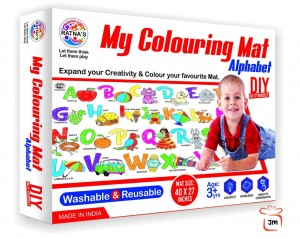 RATNA'S Premium Quality My Coloring MAT for Kids Reusable and Washable. Big MAT for Coloring. MAT Size(40 INCHES X 27 INCHES)  (ALPHABET THEME)