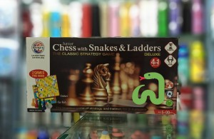 Ratna's Premium quality  Chess with Snake And Ladders Game