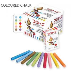 Doms Coloured Chalk (100pc pack)